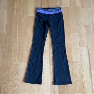 Iviva Black yoga pants reversible size 14 kids